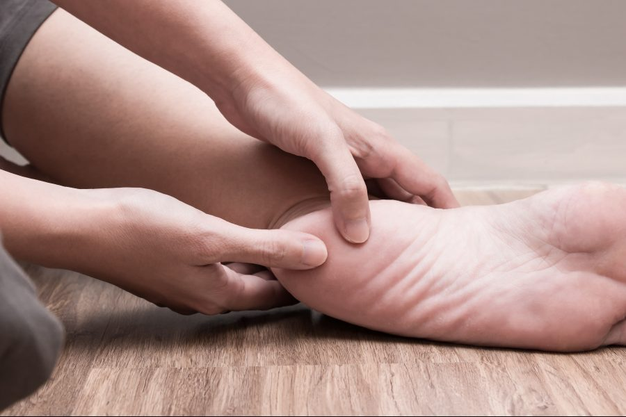 What are the most common forms of heel pain?
