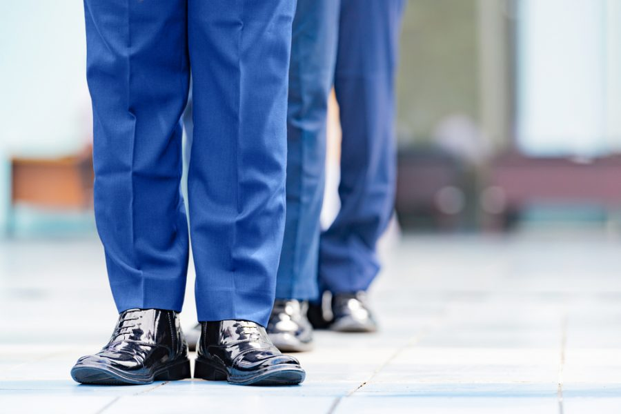 What shoes should you wear when you work upright?