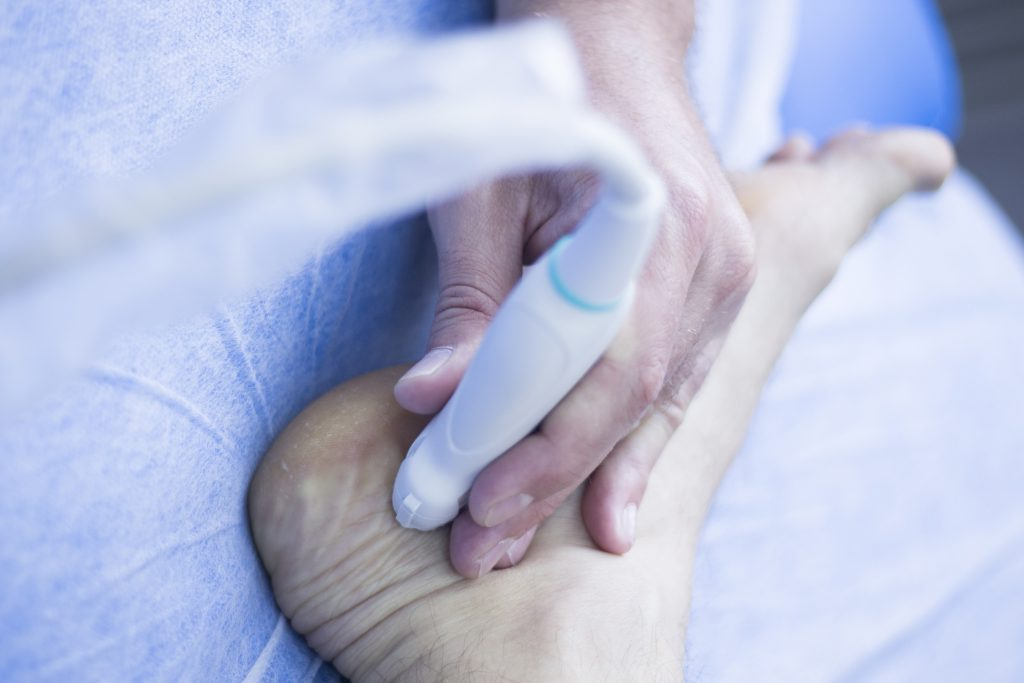 Foot ultrasound imaging