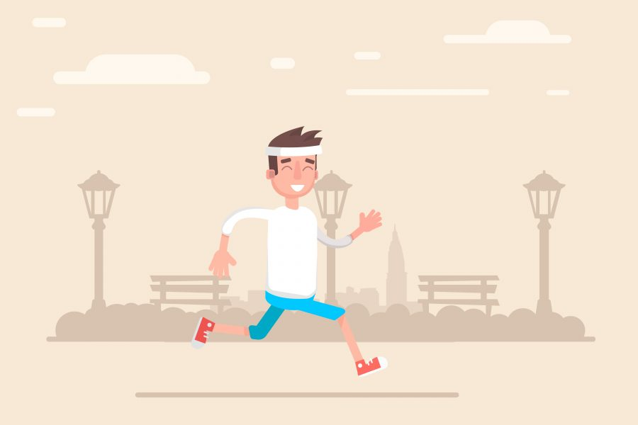 What is the best way to begin a jogging activity?